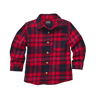 OshKosh B'Gosh® Baby Boys' Red Plaid Flannel Shirt