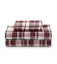 LivingQuarters Cold-Weather Performance Red Plaid Sheet Sets