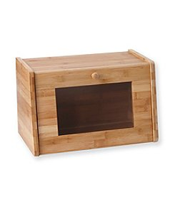 Lipper International Bamboo Bread Box with Glass Window