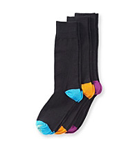 GOLD TOE® Men's Fancy Heel & Toe 3-Pack Socks