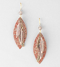 Silver Forest® Cascading Feathers Earrings