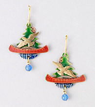Silver Forest® Multi Canoe on Lake Earrings