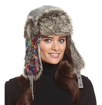 Woodland Trappers by Isotoner® Chunky Space Dyed Lurex Wool Earflap Hat