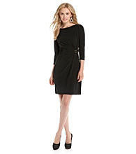 Evan-Picone® Boatneck Side Buckle Dress