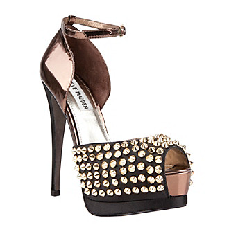 "Steve Madden® ""Obstcl-s"" Studded Ankle Strap Pump - Black"