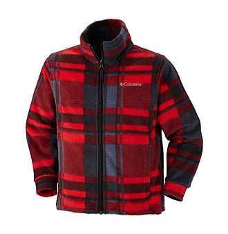 Columbia Boys' 2T-20 Red Plaid Zing™ Fleece