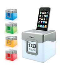 iHome® LED Color-Changing Alarm Clock System for iPhone®/iPod®