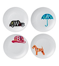 Royal Doulton® Pop in for Drinks Set of 4 Assorted Tidbit Plates