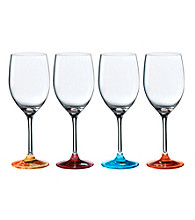Royal Doulton® Pop in for Drinks Set of 4 Colored Wine Glasses