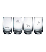 Royal Doulton® Pop in for Drinks Set of 4 Etched Highballs