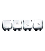 Royal Doulton® Pop in for Drinks Set of 4 Etched Tumblers