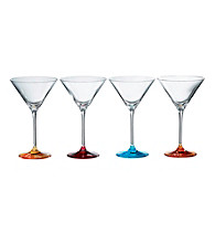 Royal Doulton® Pop in for Drinks Set of 4 Colored Martini Glasses