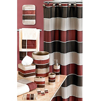 Delightful PB Home Modern Line Burgundy Bath Collection Younkers