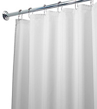 InterDesign® White Waterproof Poly Shower Stall Curtain Liner