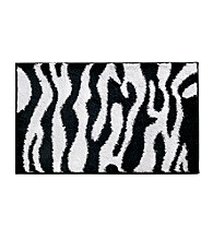 InterDesign® 34x21 Black and White Zebra Rug