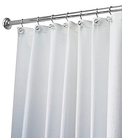 InterDesign® Carlton White Shower Curtain