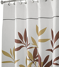 InterDesign® Brown Leaves Shower Curtain