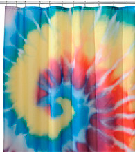 InterDesign® Bright Tie Dye Shower Curtain