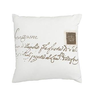 Chic Designs Ivory and Brown Classy  Decorative Pillow
