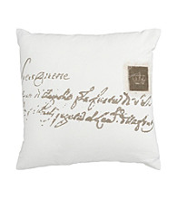 Surya Ivory and Brown Classy Decorative Pillow