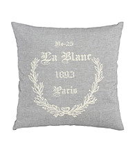 Surya Grey and Ivory Lovely Decorative Pillow