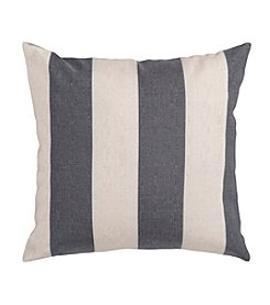 Chic Designs Grey and Ivory Thick Stripe Pillow