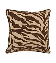 Surya Zebra Print Decorative Pillow