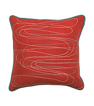 Surya Multi-Colored Lines Decorative Pillow