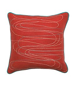 Chic Designs Multi-Colored Lines Decorative Pillow