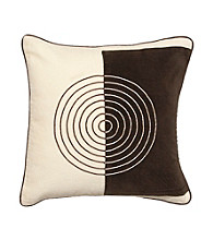 Surya Chocolate and Black Geometric Decorative Pillow