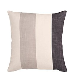 Chic Designs Ivory and Grey Thick Stripes Pillow