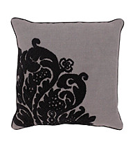 Surya Grey and Black Elegant Pillow