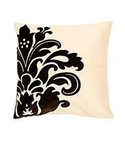 Chic Designs Black and White Elegant Flower Decorative Pillow