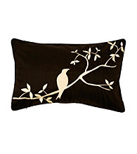 Surya Silhouetted Bird Decorative Pillow