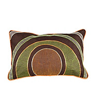 Surya Chocolate and Lime Circles Pillow