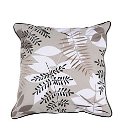 Chic Designs Grey and Taupe Leaves Decorative Pillow