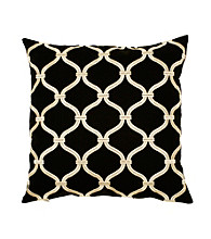 Surya Black and Ivory Decorative Pillow