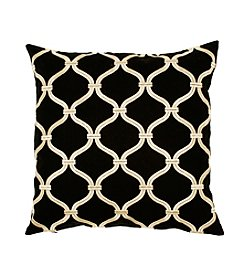 Chic Designs Black and Ivory Decorative Pillow