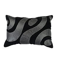 Surya Black and Silver Zig Zag Decorative Pillow