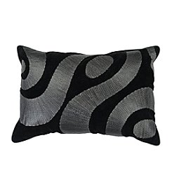 Chic Designs Black and Silver Zig Zag Decorative Pillow