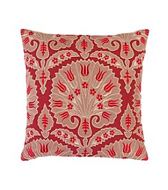 Chic Designs Red Traditional Decorative Pillow