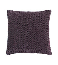 Surya Plum Textural Decorative Pillow