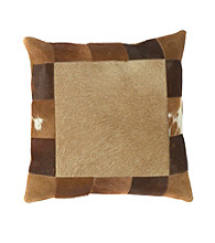 Surya Caramel and Brown Western Decorative Pillow