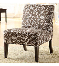 Home Interior Floral Print Lounge Chair