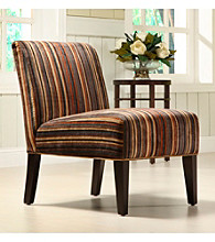 Home Interior Dark Stripe Print Lounge Chair