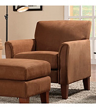 Home Interior Mocha Microfiber Accent Chair