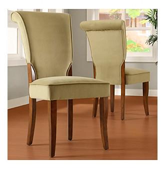 olive velvet side chairs