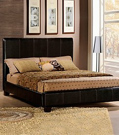 Home Interior Dark Brown Faux Leather Full Size Bed