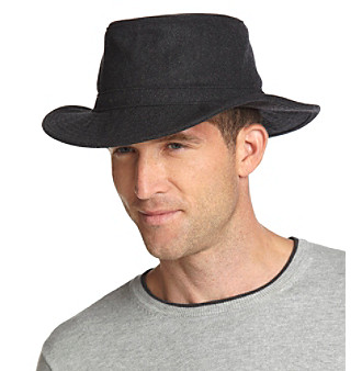 Isotoner® Men's Charcoal Lake of the Isles Safari Hat