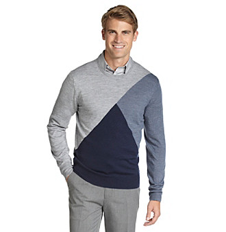 Calvin Klein Men's Exploded Argyle Merino Sweater